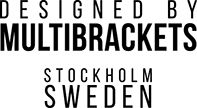 Designed by Multibrackets Stockholm Sweden